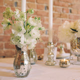 mercury silver glass vases wedding table decorations