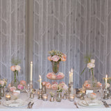 mercury silver vases wedding centrepieces