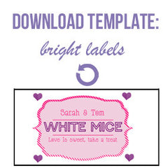 Free download dessert tabe labels