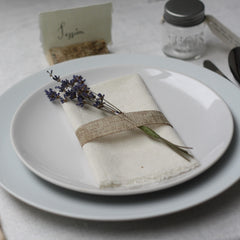dried lavender place settings from The Wedding of my Dreams