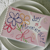 flower girl keepsake activity book