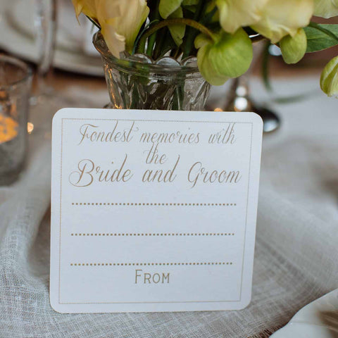 Fondest Memory With The Bride And Groom Elegant - Set Of 10