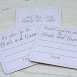 alternative wedding guest book fondest memory with bride groom coasters