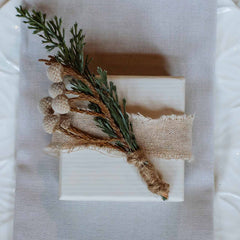 Natural Taupe Linen Ribbon with Frayed Edges Weddings