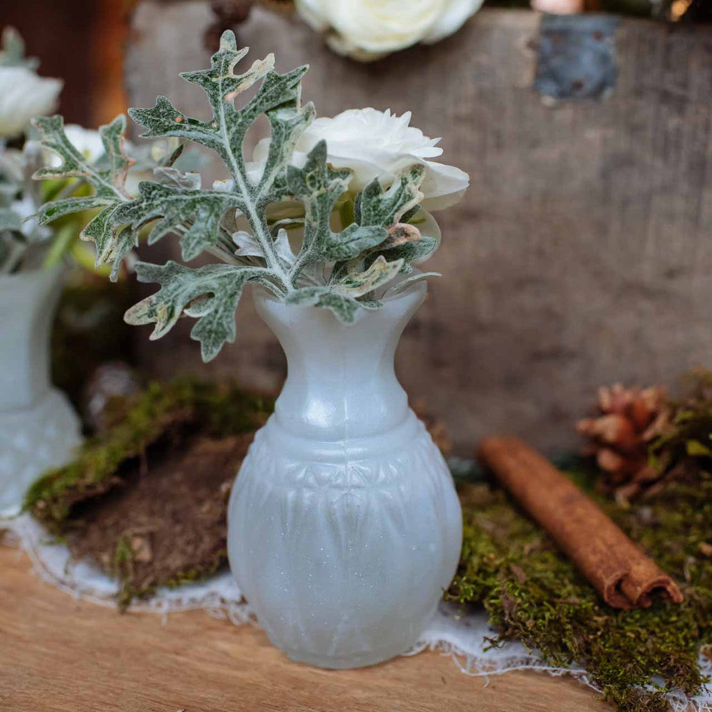 2 beautiful bud vases wedding home idea frosted white glass bud vase the wedding of my dreams reviewsmspy