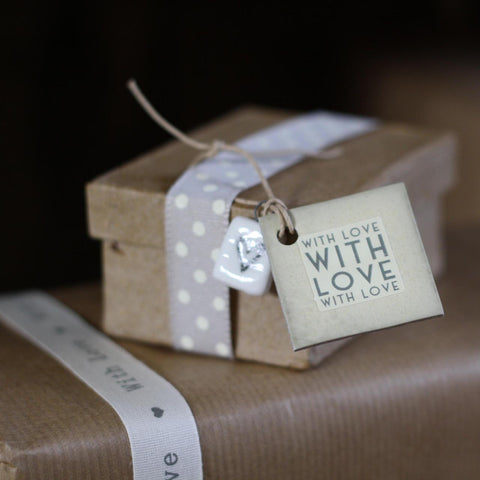 Gift Tag Square With Love