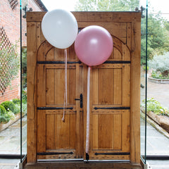 Large white round balloons wedding