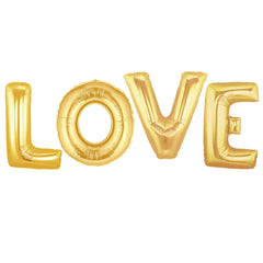 GOLD LOVE BALLOONS WEDDING