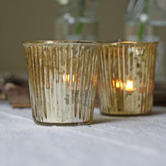 gold tea light holders