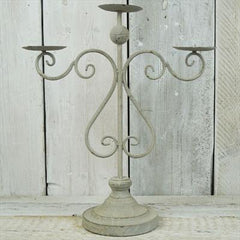 Grey Candelabra 3 Arms Wedding Centrepiece