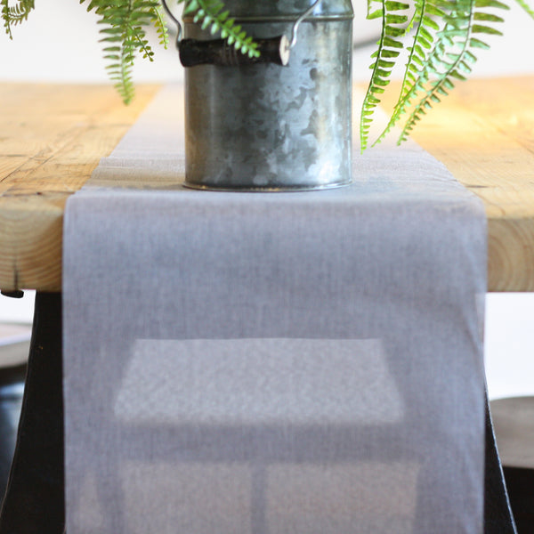 Grey Table Runner 5m available from The Wedding of my Dreams