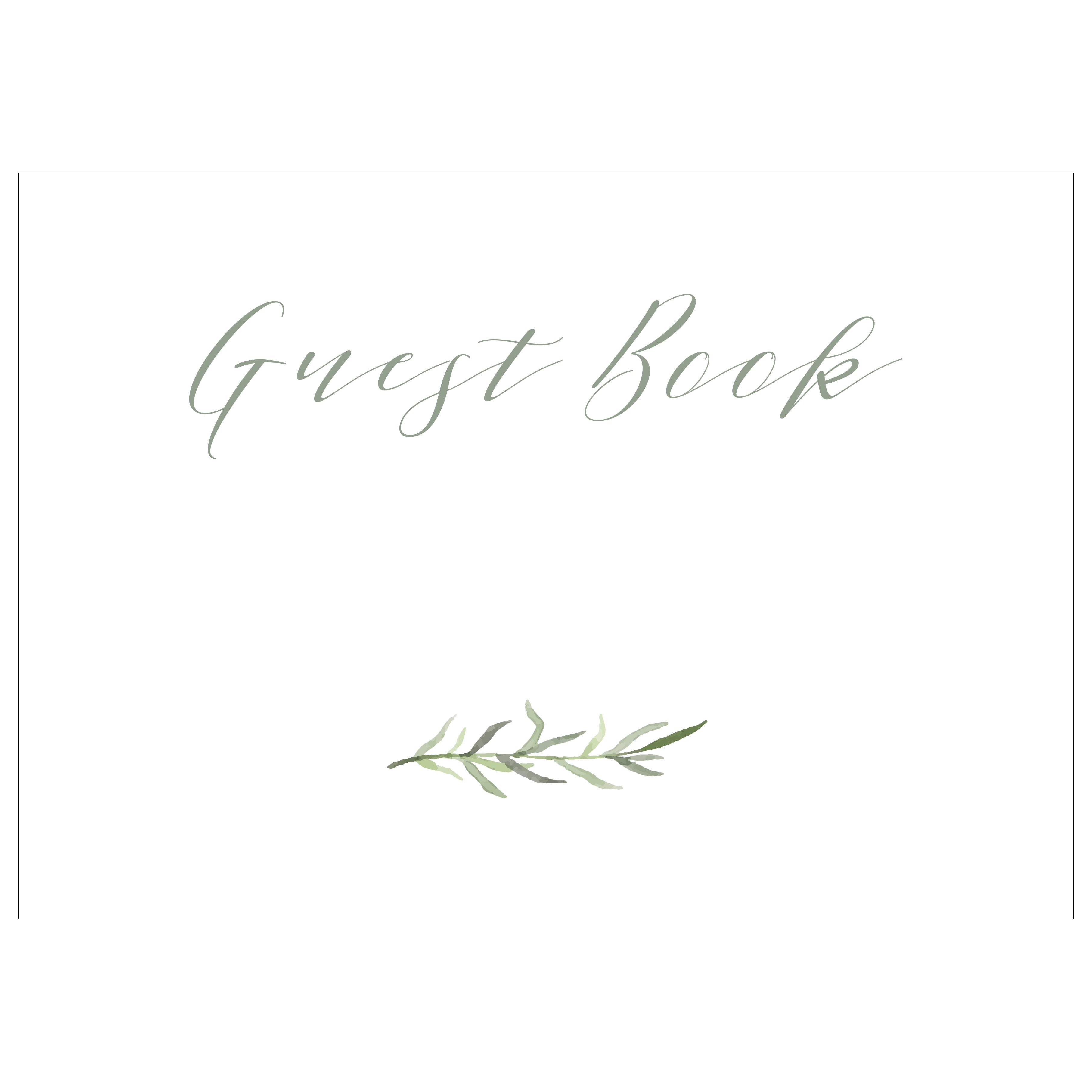 photo regarding Printable Guest Book identify Visitor E-book - Electronic Down load / Printable