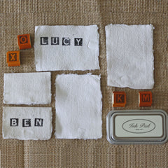 handmade cotton rag paper place cards paper torn edges