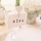 wedding place cards stamp names
