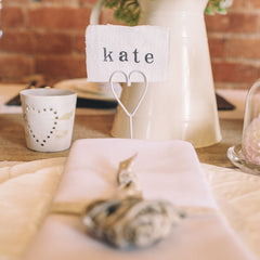 blank wedding place cards torn edges