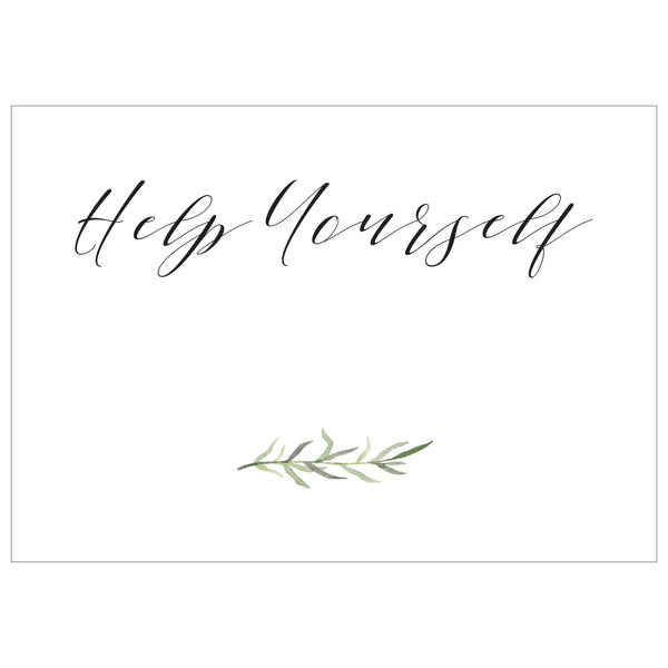 Help Yourself - Digital Download / Printable