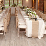 burlap hessian table runners