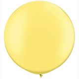large pastel lemon yellow pearl round balloons