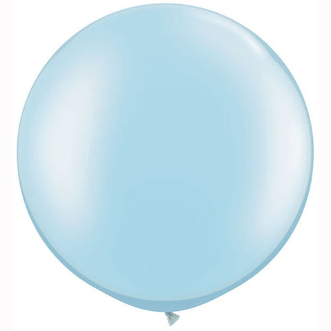 "Giant Pearl Pastel Blue Round Balloons (30"") Pack of Two"