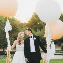 large round wedding balloons