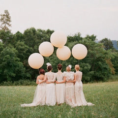 large round balloons for bridesmaids