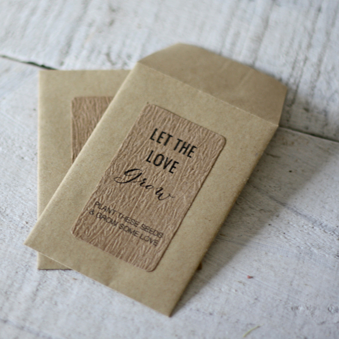 Let The Love Grow Wedding Favour Stickers (non personalised) – The ...