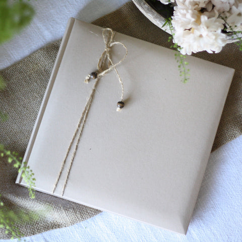 Brown Paper & Twine Wedding Guest Book
