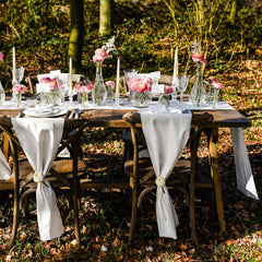 Natural Cotton Table Runner 5m available from @theweddingomd The Wedding of my Dreams