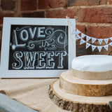 Love Is Sweet Print – Chalkboard Style