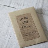 Let The Love Grow Wedding Favour Stickers (non personalised) – Sheet Of 18