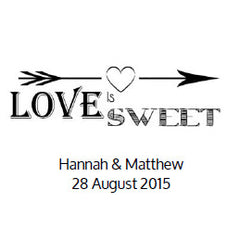 Love Is Sweet Wedding Favour Stickers