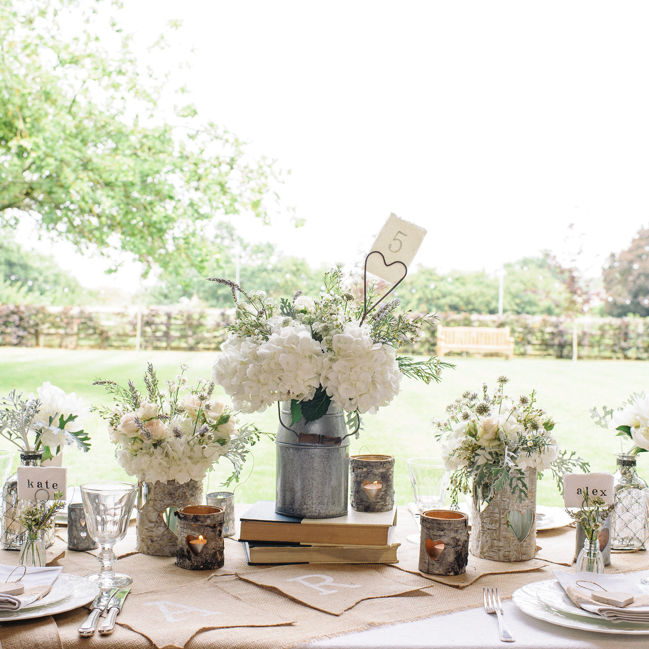 Silver Milk Churn Table Centre – The Wedding of My Dreams