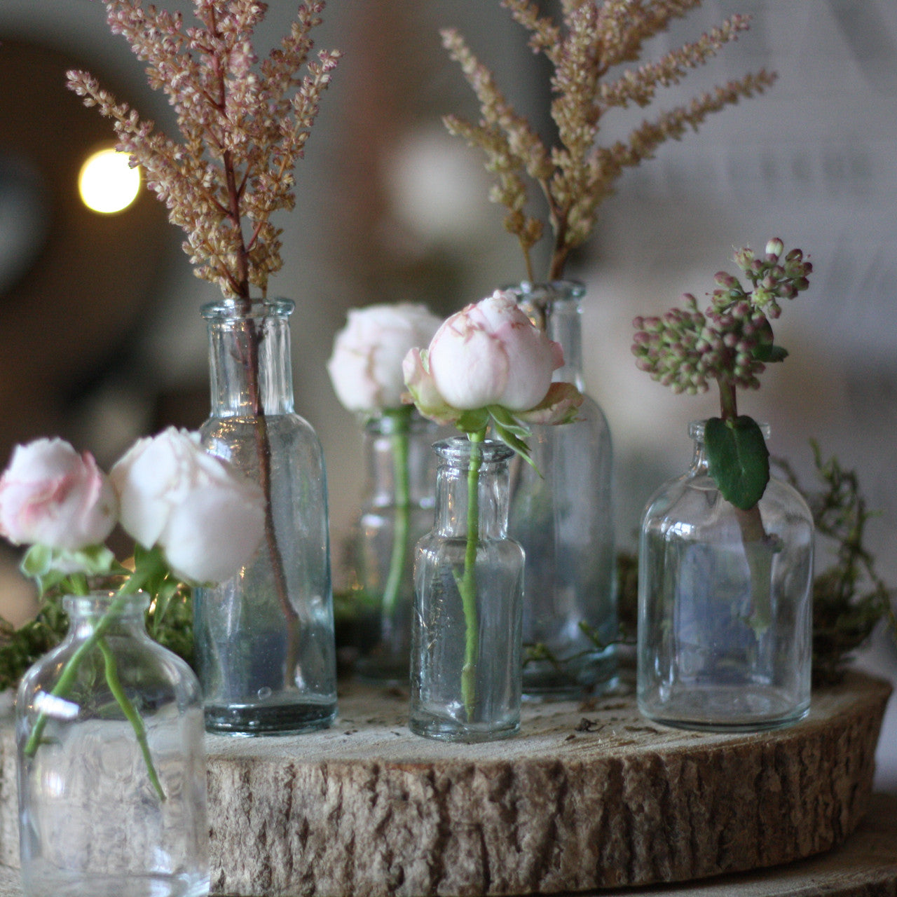 Cork Art Wedding: Mini Glass Bottles With Cork Stopper
