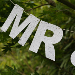 MR & MRS Bunting - White / Silver