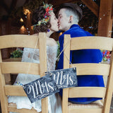 Mrs & Mrs Chair Back Wedding Signs – Chalkboard Style