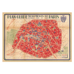 paris map wedding table plan