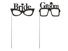 Photo Booth Props Bride and Groom Glasses - available from The Wedding of my Dreams