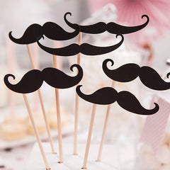 Photo Booth Props Moustache - available from The Wedding of my Dreams
