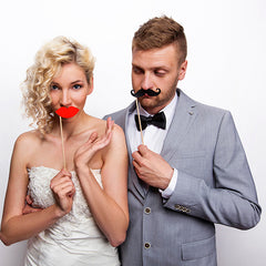 Photo Booth Props Moustache and Lips - available from The Wedding of my Dreams