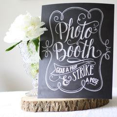 Photo Booth Print – Chalkboard Style