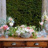 pressed glass vases for weddings