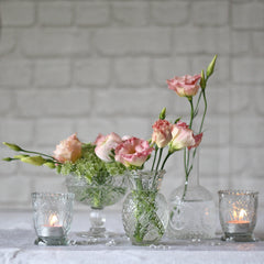 pressed glass crystal glass vases wedding centrepieces
