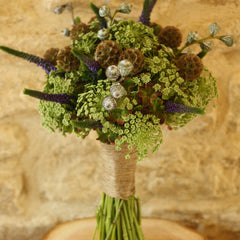 natural twine for wedding bouquets