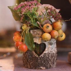 rustic bark vases small