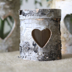 rustic bark tea light holders
