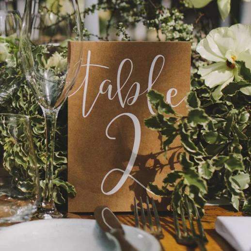 Rustic Chic Table Numbers 1 - 12