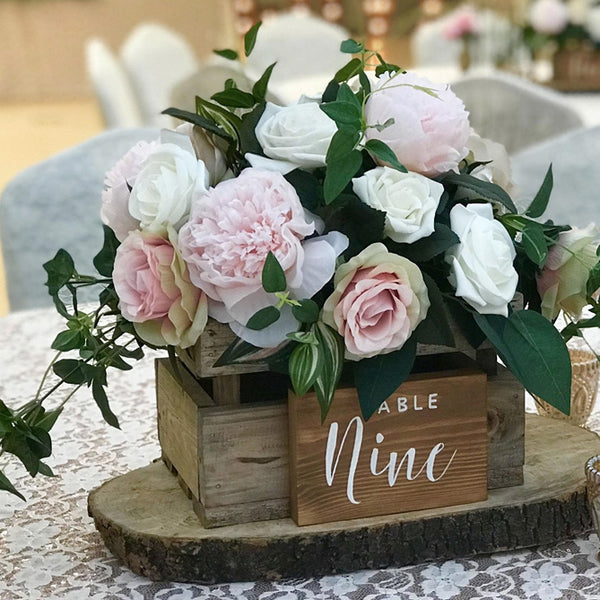 Wooden Crate Box Rustic Wedding Centrepiece The Wedding