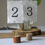 Rustic Wooden Bark Card Holders