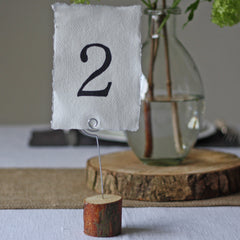 Rustic Wooden Bark table Number Holders