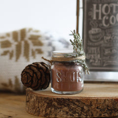 winter wedding favours shot glasses hot choc cocoa mix